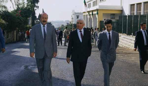 Belkheir, Chadli et Hamrouche.