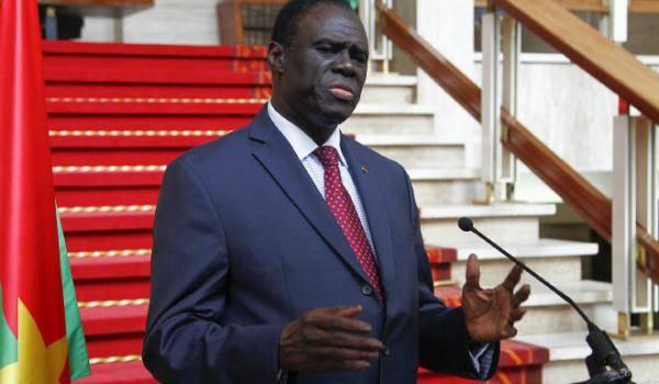 Le président intérimaire du Burkina Faso Michel Kafando
