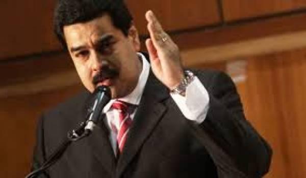 Nicolas Maduro, au plus mal suite à la chute du cours du pétrole.
