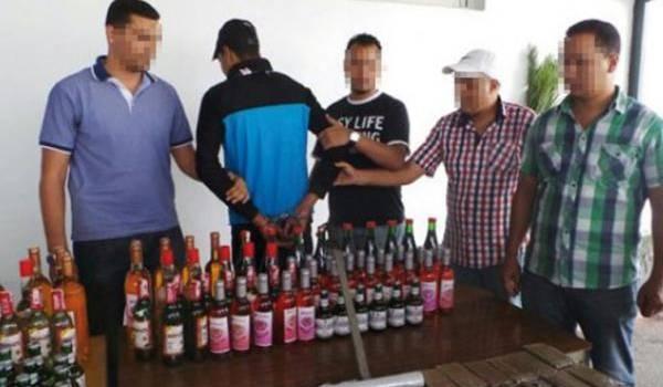 Le trafiquant d'alcool a été neutralisé par les services de police.