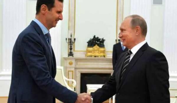 Poutine a accueilli Assad en Russie.