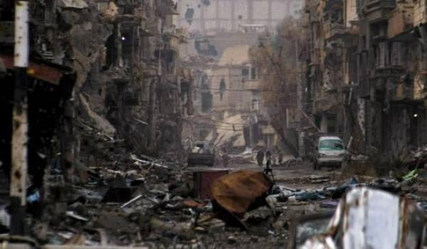 Deir Ezzour, comme d'autres villes rasées par la guerre. Le drame humain y est sans commune mesure.