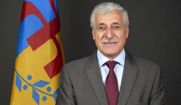 Ferhat Mehenni, président de l'Anavad