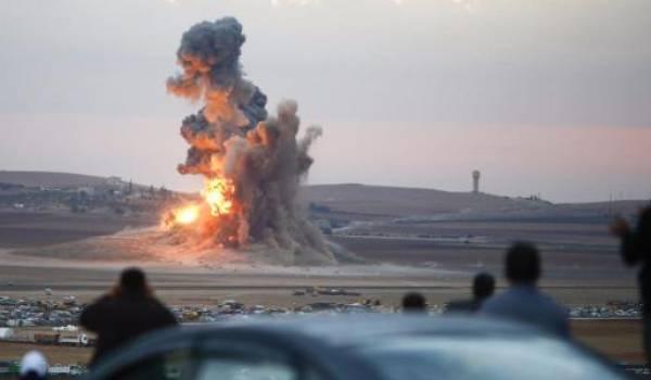 La coalition multiplie les bombardements.
