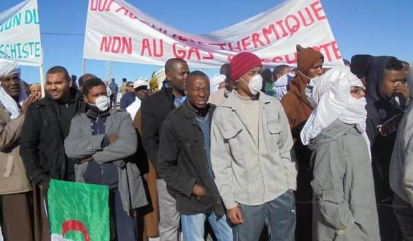 In Salah au coeur de la contestation contre l'exploitation du gaz de schiste.