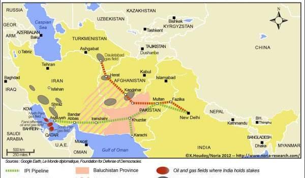 Le plan de passage du gazoduc Tapi
