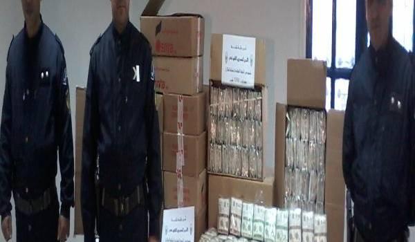 Les policiers de Batna (sur la photo) ont mis la main sur une énorme quantité de tabac à chiquer contrefait.