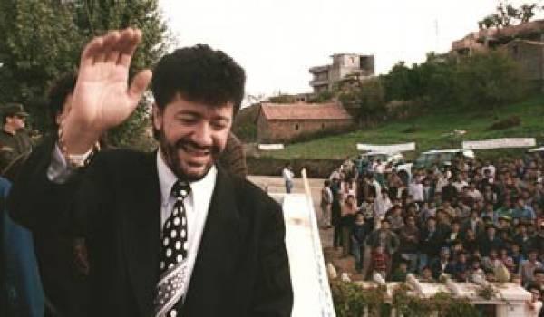 Lounès Matoub avec son public.