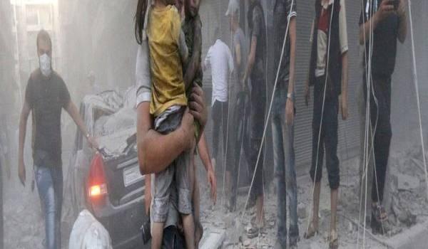 La population syrienne martyrisée par les bombardements et la guerre depuis 2011. Photo AFP