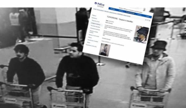 La photo des suspects ayant commis les attentats de Bruxelles