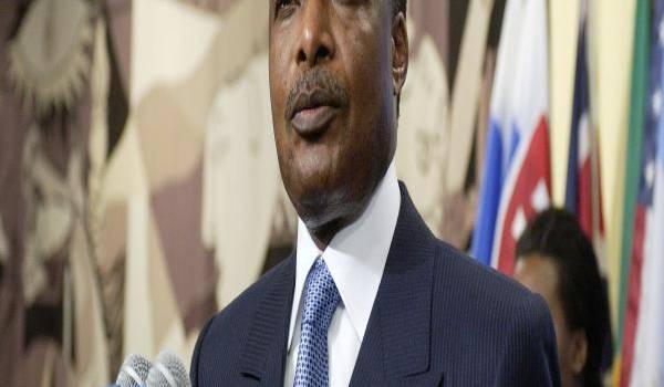 Sassou Nguesso, président du Congo-Brazzaville