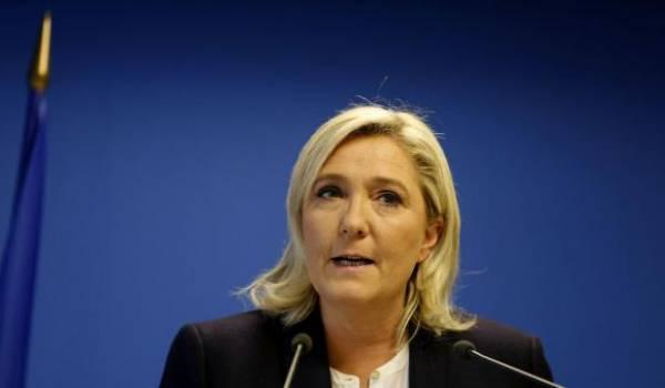 Marine Le Pen, présidente du parti d'extrême droite le FN. Photo AFP