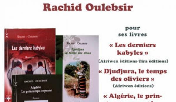 L'écrivain-chercheur Rachid Oulebsir sera l'invité mercredi de l'ACB à Paris