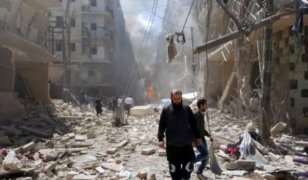 Une guerre urbaine a lieu dans Alep.