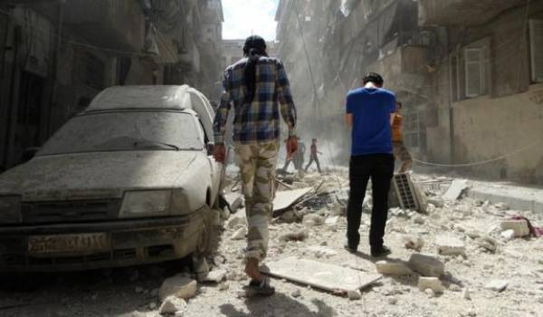 Alep sous les bombes russes et d'Al Assad.