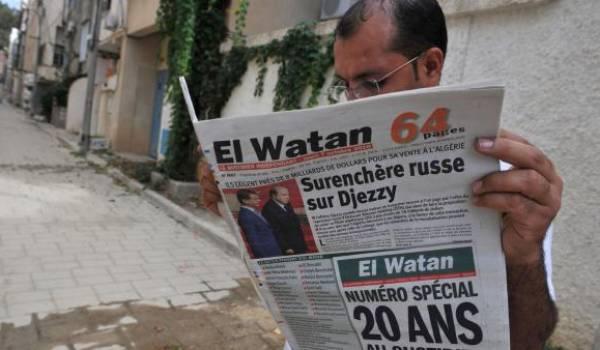 Le siège du quotidien El Watan encerclé par les gendarmes.