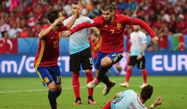 L'Espagne aura à affronter l'Italie au prochain tour.