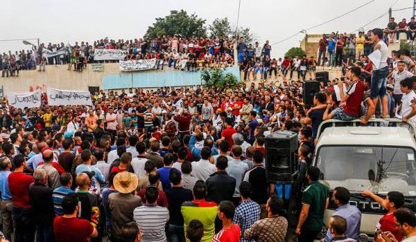 La population opposée à l'installation d'une cimenterie