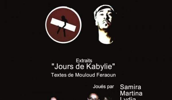 """""""Akka i d nekkini"""", monologue tiré de """"Jours de Kabylie"""" à l'ACB"""