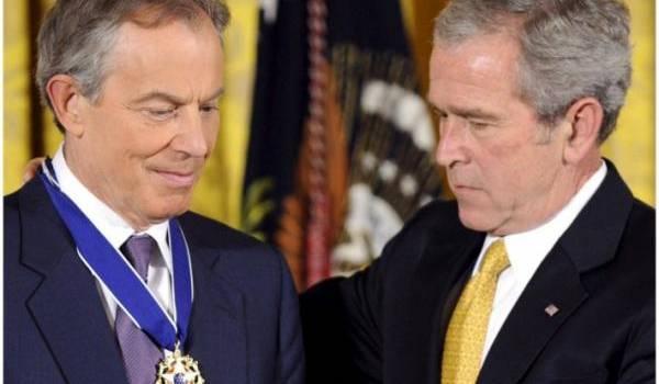 Blair et Bush, les tenants de la destabilisation  du Moyen-Orient.