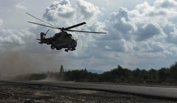 Un hélicoptère syrien avec deux pilotes russes abattu près de Palmyre — Syrie