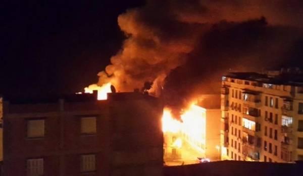 Un incendie ravage un immeuble de quatre étages à Bab El Oued (Alger)