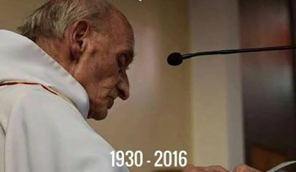Père Jacques Hamel qui a été sauvagement tué à 86 ans par des barbares