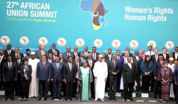 Le dernier sommet de l'Union africaine à Kigali.