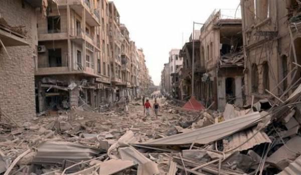 Alep devenue un champ de ruines sous les combats.