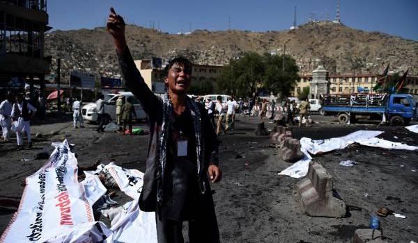 23 juillet 2016, attaque suicide contre la minorité hazara chiite ( 80 morts et plus de 230 blessés).