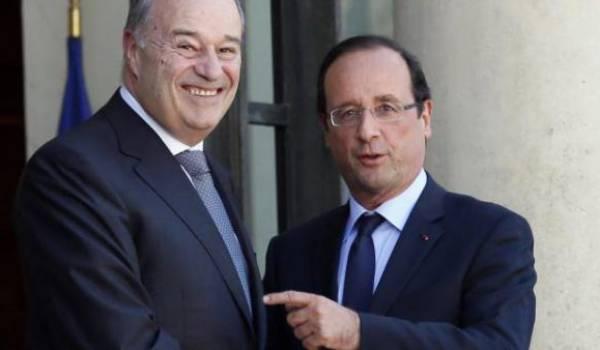 Jean-Michel Baylet, le ministre le plus riche du gouvernement français. Ici avec le président Hollande