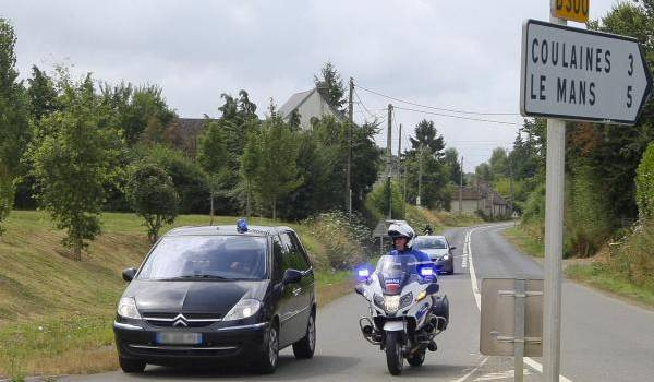 L'arrivée du Raid aux Croisettes, commune de Coulaines. Photo François Navarro.