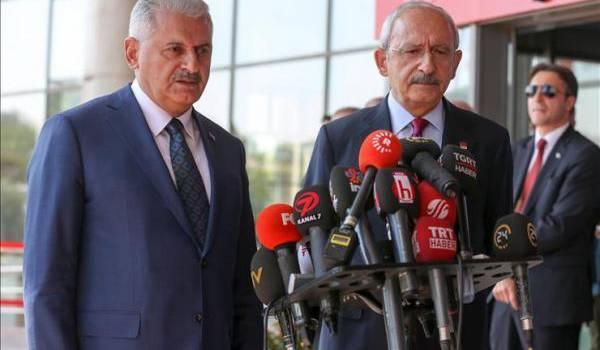 Le chef de gouvernement s'est entretenu avec Kemal Kilicdaroglu,le chef du Parti républicain du peuple (CHP – opposition Kamaliste)