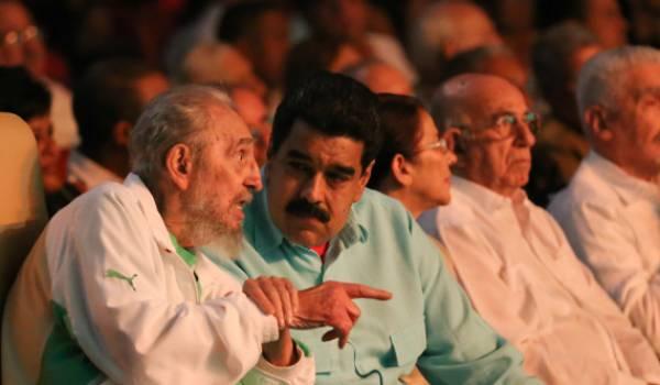 Fidel Castro avec Nicolas Maduro, président du Venezuela.
