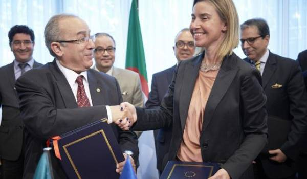 Ramtane Lamamra avec Mme Federica Mogherini