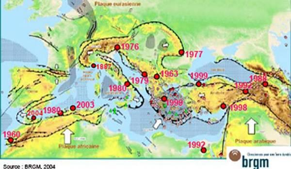 La Méditerranée : une forte activité sismique causée par les frottements des plaques continentales