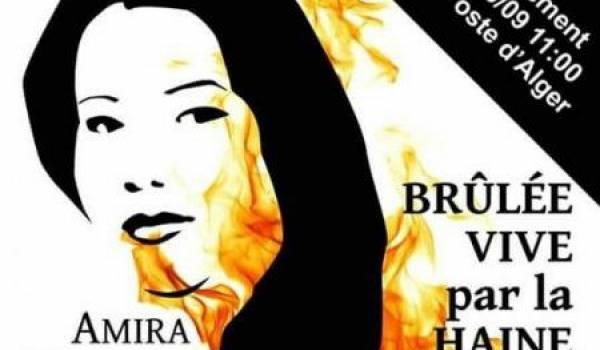Amira Merabet brûlée vive par un homme.