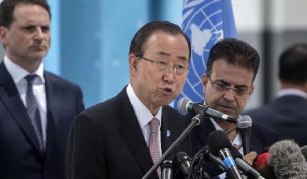 Ban Ki-moon dénonce encore une fois la colonisation israélienne des territoires palestiniens.