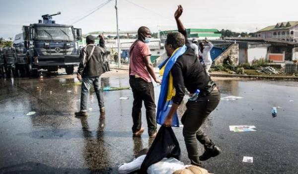 Des morts des centaines d'arrestations au Gabon en moins de 48 heures. Photo AFP