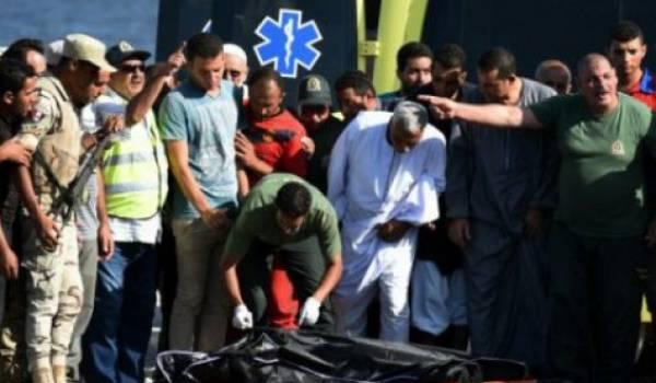 Le bateau a chaviré mercredi dernier avec à son bord 450 migrants
