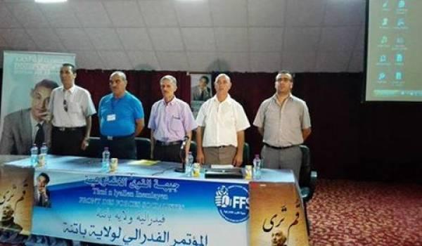 Des membres dirigeants du FFS lors de l'élection du 1er secrétaire de la wilaya de Batna