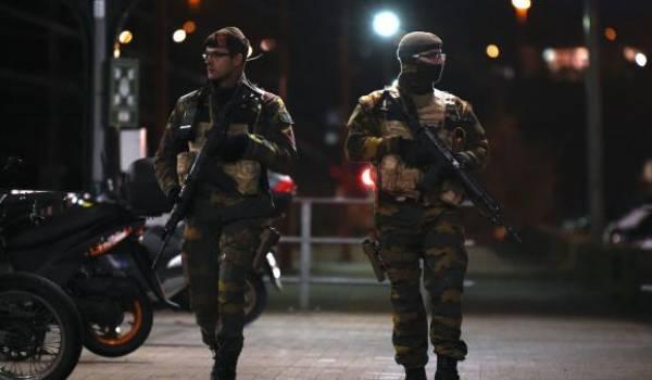 Patrouille de soldats belges. Photo AFP