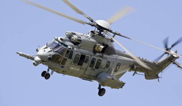 L'hélicoptère Caracal.