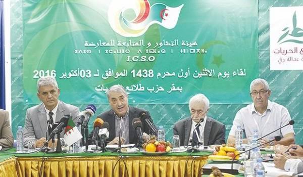 l'Instance de Coordination et de Suivi de l'Opposition (ICSO). Photo Liberté.