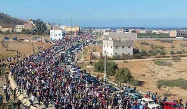 D'immenses manifestations suite à la mort violente de Mouhcine Fikri écrasé par  une benne.