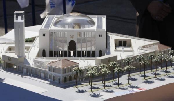 La maquette de la mosquée de Marseille