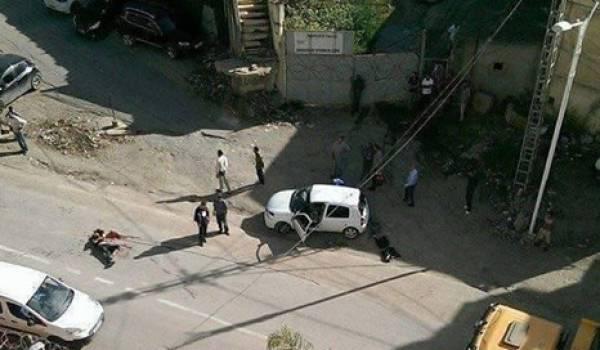Le lieu de l'agression sauvage de l'automobiliste. Photo réseaux sociaux.