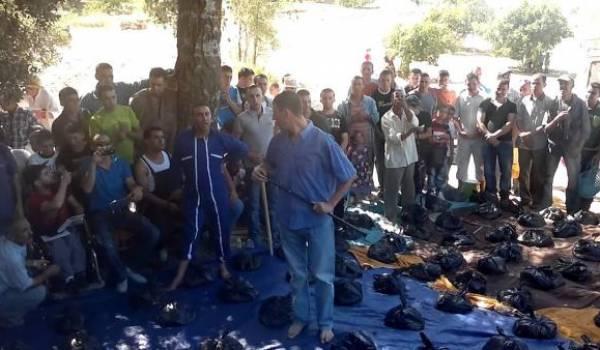 Timechret a lieu pendant taachourt en Kabylie. On partage la viande entre les villageois.