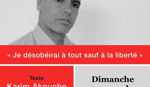Récital poétique au bénéfice du prisonnier d'opinion Slimane Bouhafs