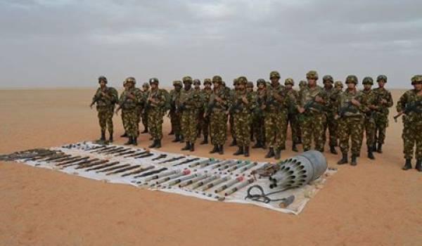 L'impressionnant arsenal de guerre que l'ANP a retrouvé.